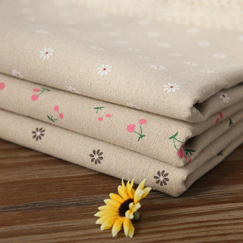 Mantel de lino de algodón Pastoral de gran oferta con estampado de margaritas de cereza mantel Rectangular con borde de encaje para boda