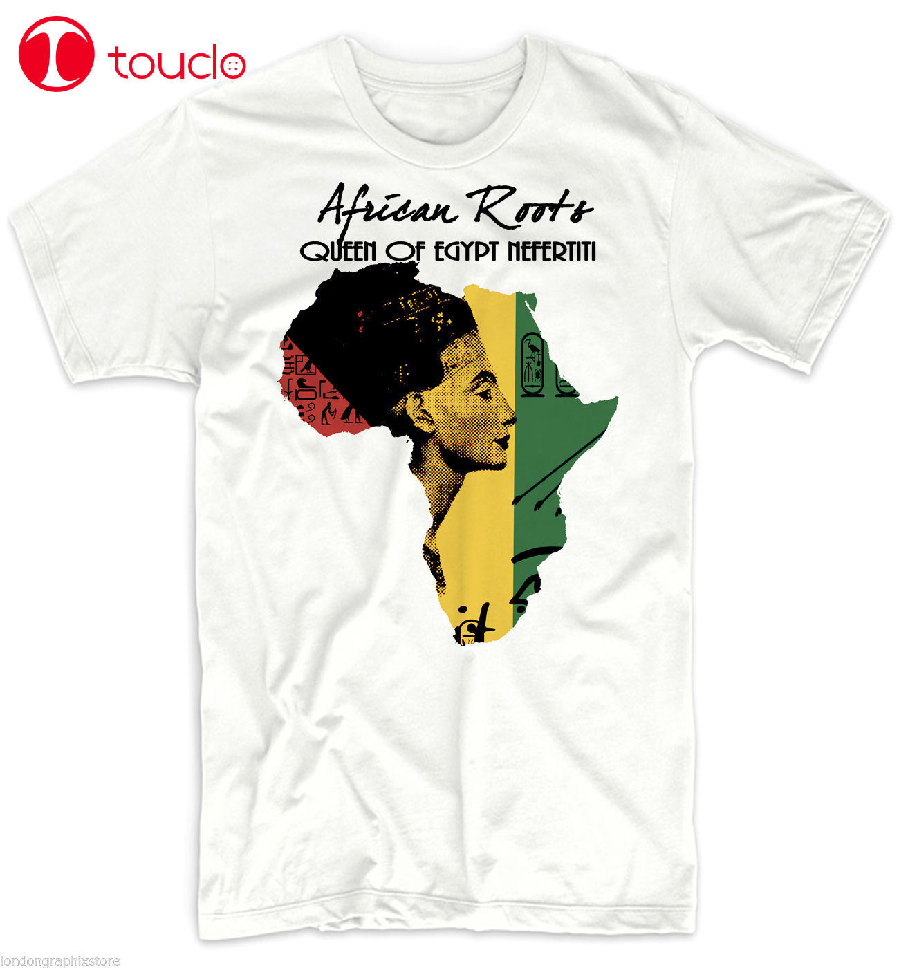 Camiseta de África 2019 para hombres, mapa africano, Historia Negra, Rastafari, Jersey Nefertiti de algodón Reggae