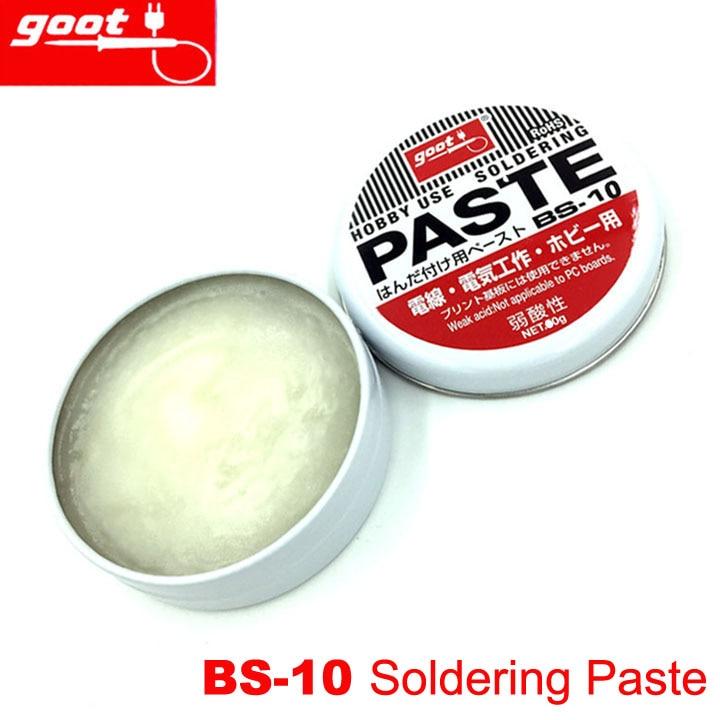 Original Japón GOOT BS-10 Hobby Use resina pasta de soldadura NW.10g Flujo de soldadura de ácido débil