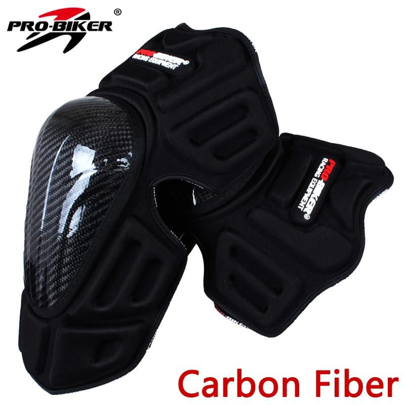 PRO-MOTOCICLISTA Da Motocicleta Joelheiras joelheira de Proteção De Fibra De Carbono Motocross Protective Engrenagens Moto Protetor de Perna HX-P18