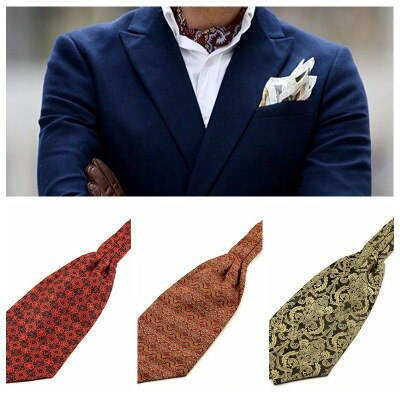 De los hombres de la moda de Jacquard de Ascot corbata