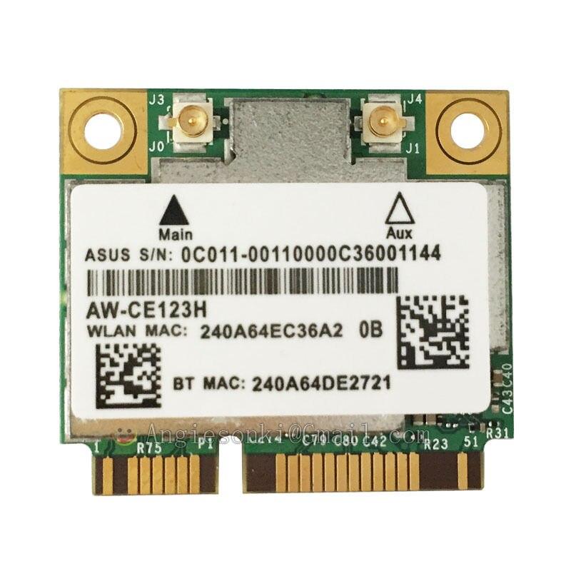 Wi-Fi карта Azurewave AW-CE123H Broadcom bcm942hmb 802.11ac 2,4G/5 ГГц Mini PCI-E 867 Мбит/с MAC