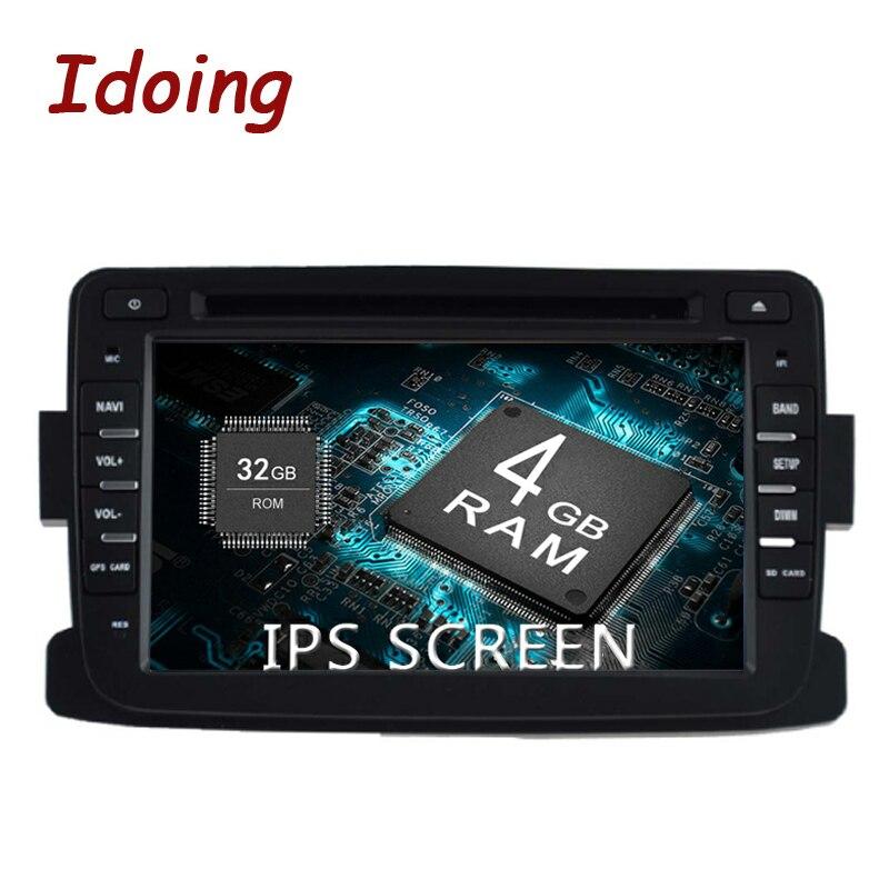"Idoing 7 ""4G + 32G 8Core 2Din coche Android9.0 Audio Multimedia IPS pantalla protector antipolvo para Renault LADA 2014-2016 + GPS + Glonass arranque rápido"