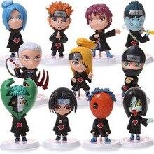 Nieuwe Hot Fashion 11 Stks/set Kinderen Poppen Japanse Anime Naruto Akatsuki 2.6 Figuur Speelgoed Model Nieuwjaar Verjaardag Geschenken voor Kids