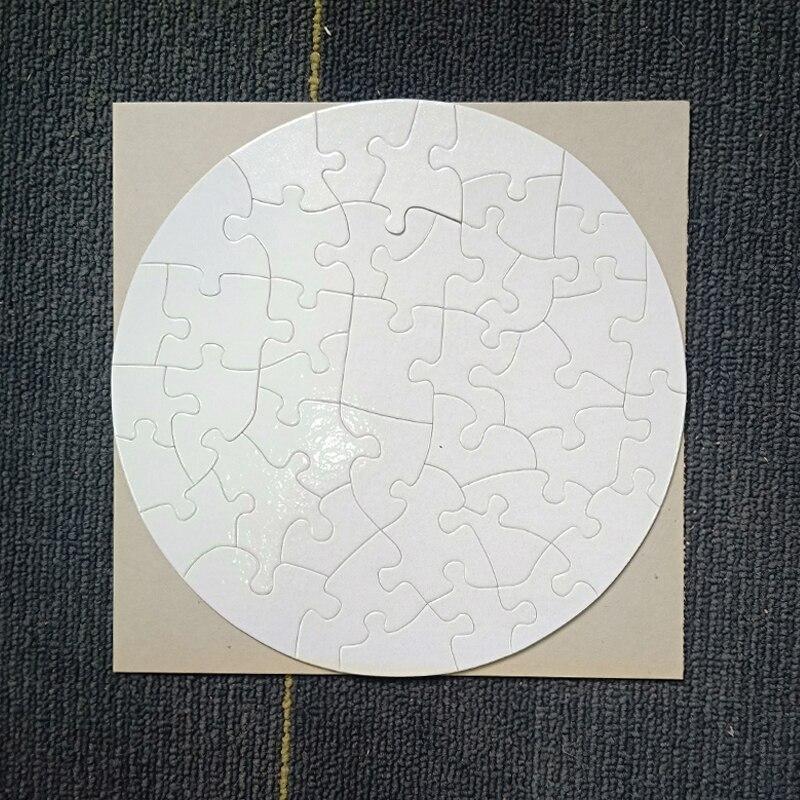 شحن مجاني 10 قطعة التسامي الجولة فارغة الألغاز بازل بها بنفسك الحرفية بازل قطع 20 سنتيمتر عالية الجودة