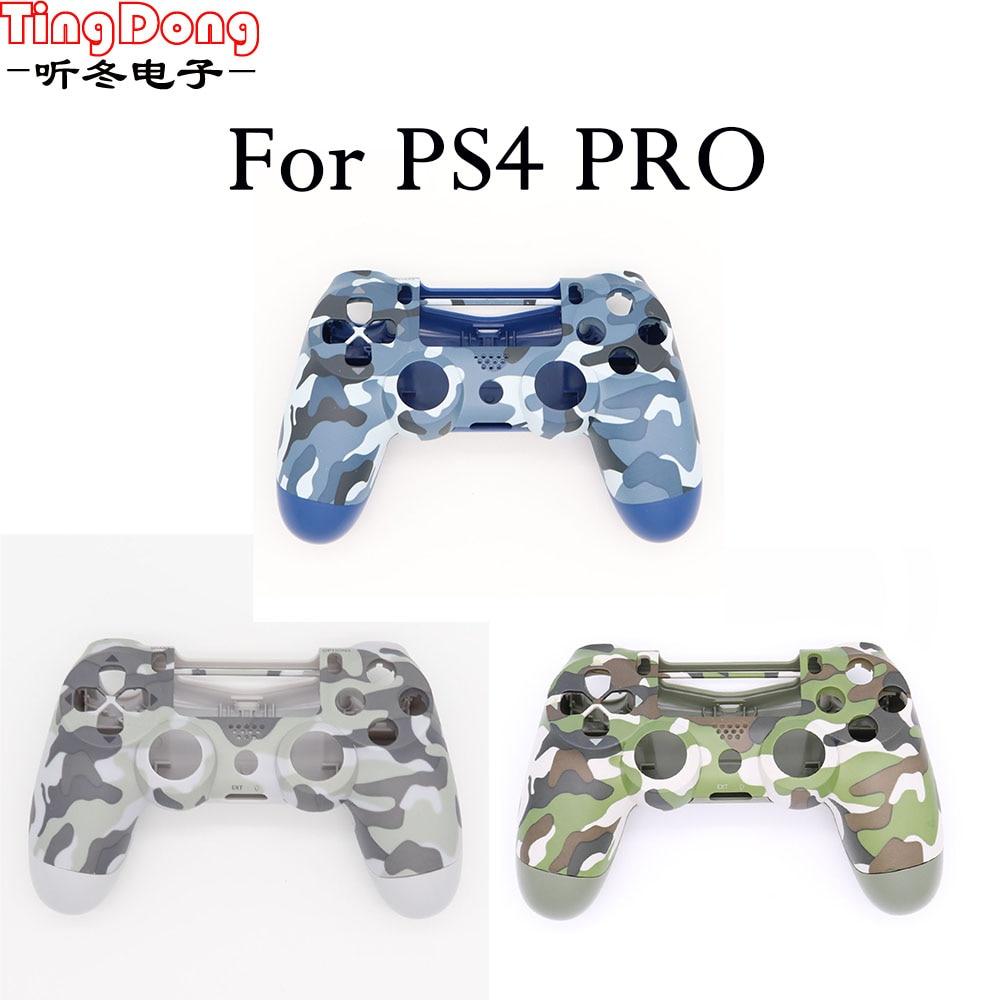 PS4 Pro 4.0 Controller Case Front back Under Shell Housing Cover for Playstation 4 Pro V2 Controller JDS040 JDM040 Camouflage