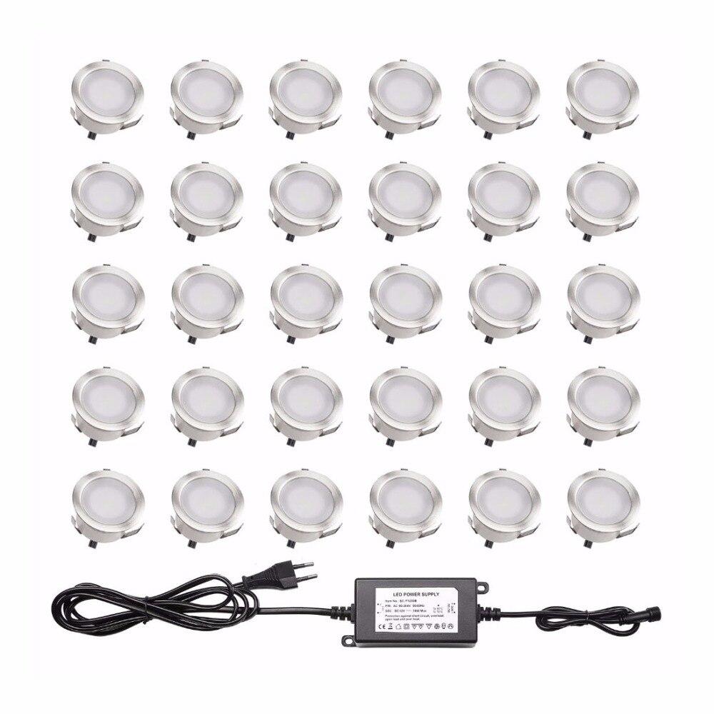 Recessed Floor Stair Light Underground Lamp LED Deck Lights IP67 Outdoor lighting Garden Landscape Luminaire 30pcs/set B105-30