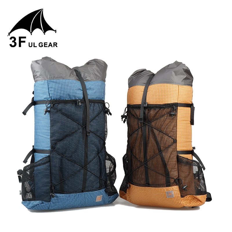 Mochila de viaje para acampar al aire libre 3F UL GEAR TUTOR 26L 38L mochila de senderismo ultraligera sin marco paquetes de senderismo