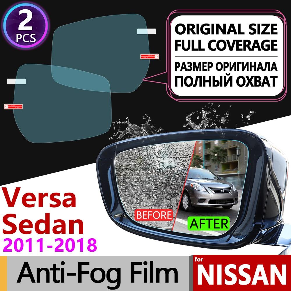 Para Nissan versan Sedan N17 Almera Sunny Latio 2011 ~ 2018 cubierta completa Anti niebla película espejo retrovisor películas Anti-niebla accesorios de coche