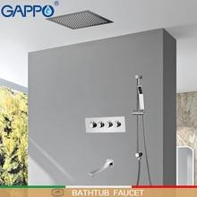 GAPPO robinets de douche en cascade thermostatique   Robinet de douche mitigeur de douche, robinets de pluie muraux, système de bain