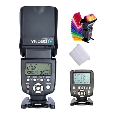 Yongnuo YN560IV YN560 IV YN 560 Flash Speedlite para Canon Nikon con YongNuo 560TX disparador de Flash