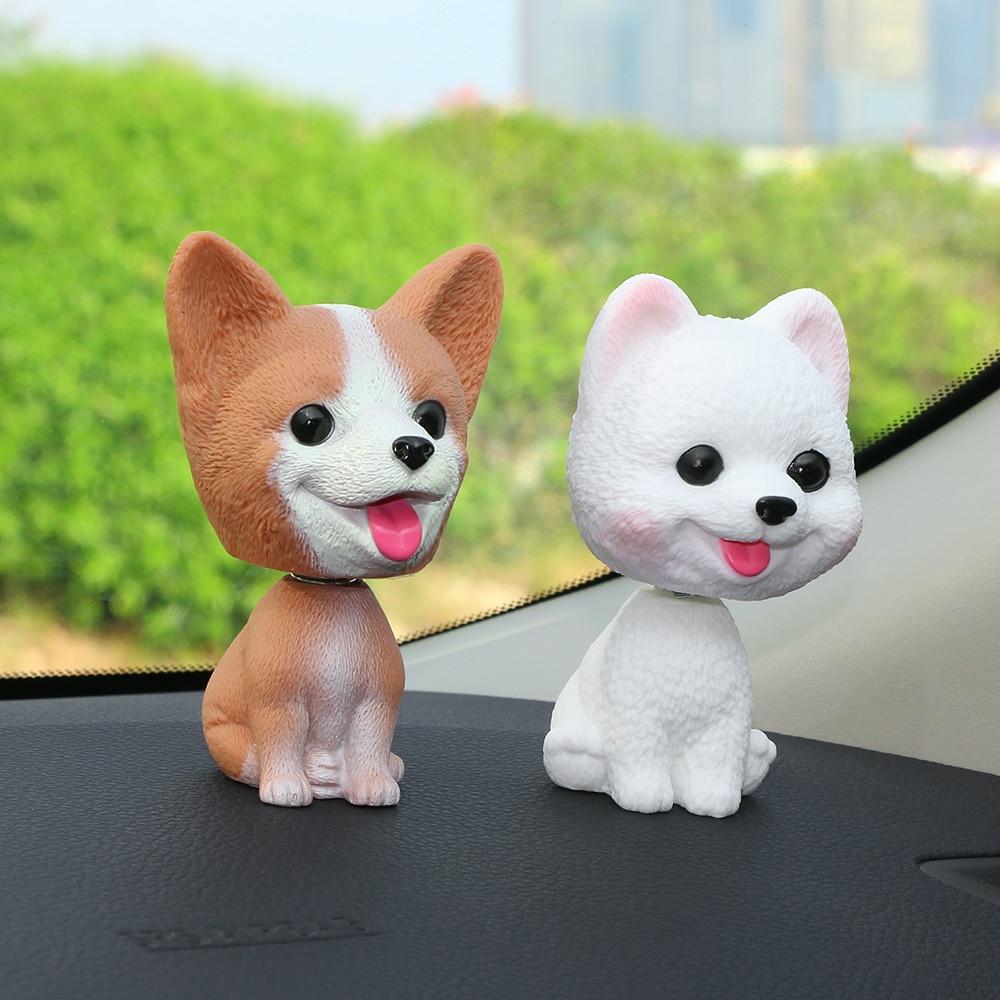 Украшение для автомобиля Милая голова-встряхиватель собака кукла Автомобильный интерьер приборной панели украшение поплавок щенок фигурка игрушки аксессуары
