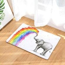 Alfombras de elefante arcoíris CAMMITEVER, alfombras para dormitorio, alfombras para sala de estar