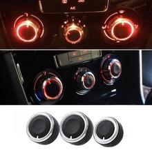 3 Pcs A/C Auto Styling Klimaanlage Panel Control Switch Knob Für VW Passat B6 Jetta Bora Golf mk5