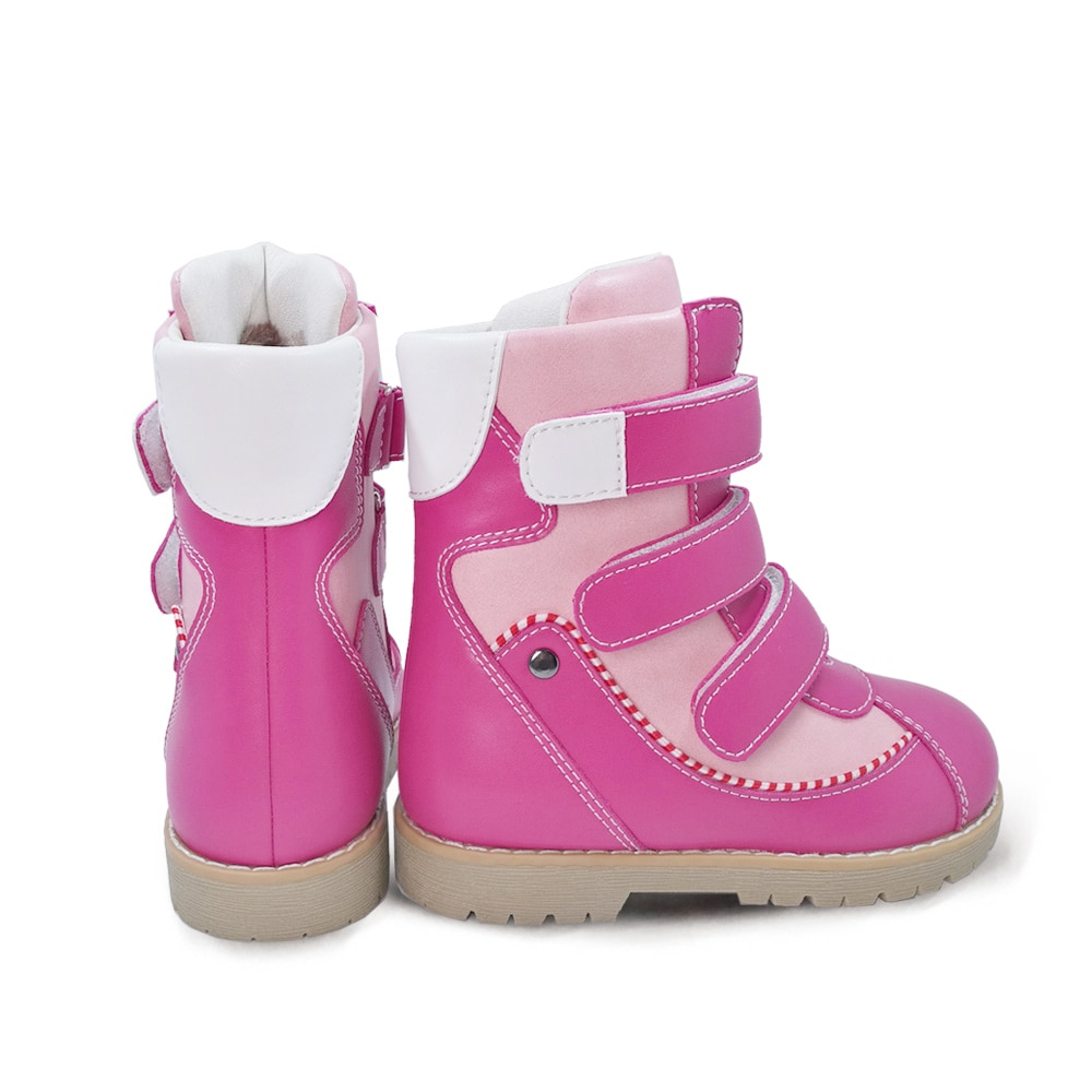 Ortoluckland Children Winter Shoes Orthopedic Fur Leather Calf  Snow Boots For Girls Pink Warm Fashion Kids Footwear enlarge