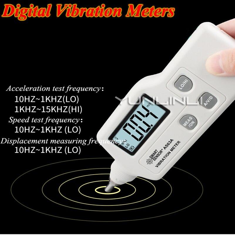 High Precision Handheld Vibration Tester Gauge Digital Vibration Meters Multimeter Vibrometer Analyzer Device AS63A