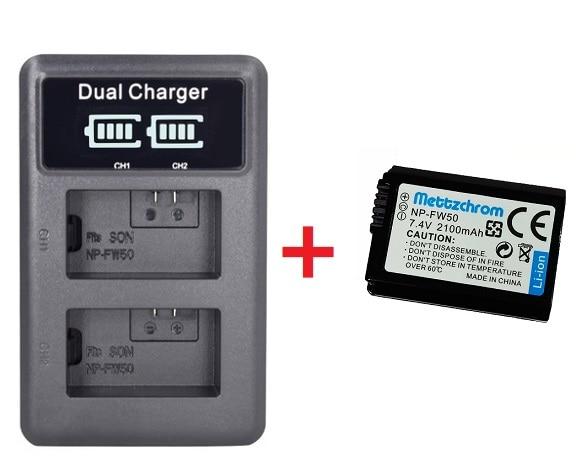 2100 мАч NP-FW50 NP FW50 камера батарея + LCD USB двойное зарядное устройство для Sony Alpha a6500 a6300 a6000 a5000 a3000 NEX-3 a7R