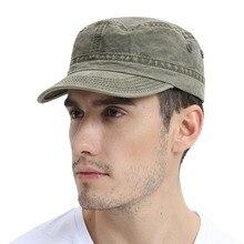 VOBOOM chapeau militaire pour hommes   Chapeau dété automne délavé coton casquette verte de larmée, chapeaux réglables de capitaine 162