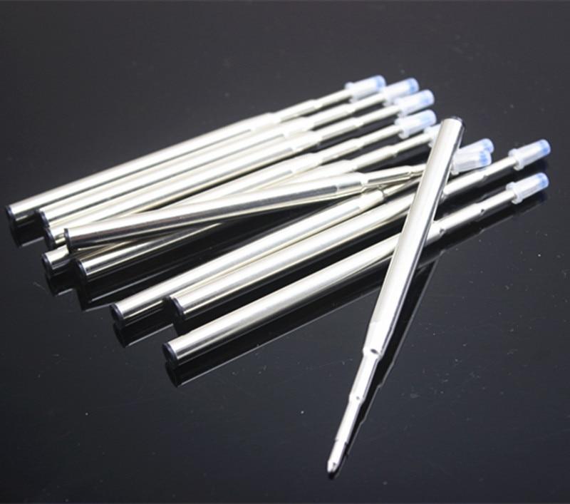 Стержни для шариковой ручки mb, 10 шт./лот, синие/черные металлические, стержни для шариковой ручки, Канцтовары, принадлежности для офиса и пис...