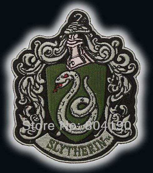 """Gran HARRY """"Salazar Slytherin"""" Escudo emblema bordado hierro en parche 11,5 cm apliques venta al por mayor dropship Xmas regalo"""