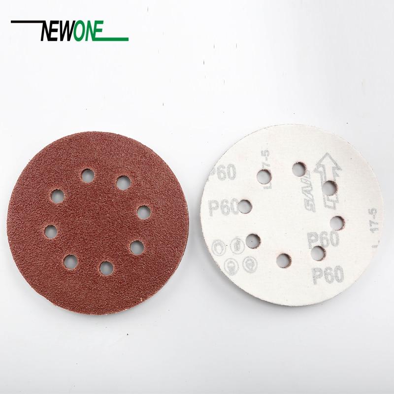 10 pezzi / set 125mm dischi abrasivi da 5 pollici con 8 fori di carta - Utensili abrasivi - Fotografia 5