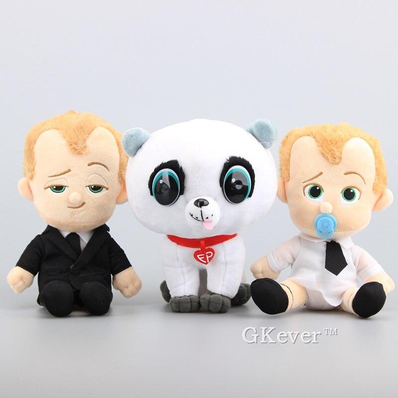 """Nowy 3 style Boss Baby Suit & Diaper Boss Baby Pet Dog miękkie nadziewane zabawki pluszowe lalki inspirowane kreskówkami 7 """"18 CM"""