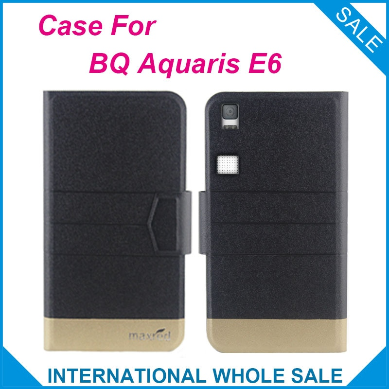 5 видов цветов жарко! BQ Aquaris E6 Модный деловой кожаный эксклюзивный чехол с магнитной застежкой для BQ Aquaris E6