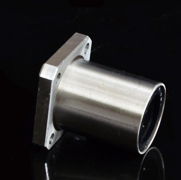 100 pçs/lote LMK16UU 16mm Praça Flange linear motion rolamentos impressora 3D LMK16 16*28*37mm