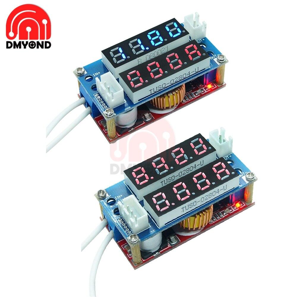 5A ajustable CC CV Step Down módulo de carga voltímetro digital LED amperímetro pantalla LED controlador para Arduino corriente constante