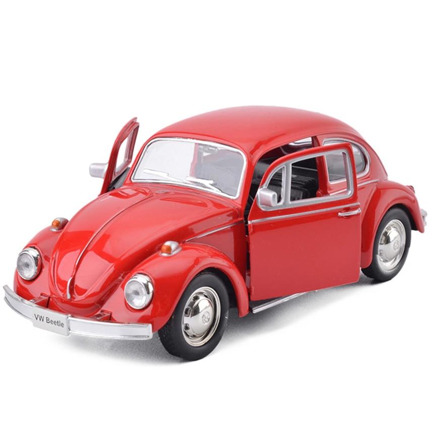 R Beetle-Mini coche de juguete para niños, vehículo de aleación extraíble, réplica, modelo de fábrica Original, Colección, 1976, 1:36