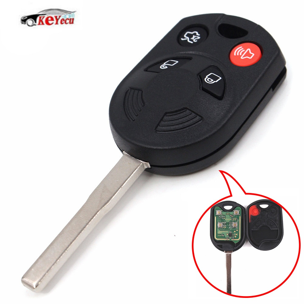 Mando a distancia de 4 botones KEYECU Fob 315MHz 80Bit 4D63 para Ford Escape Focus c-max Transit FCC OUCD6000022