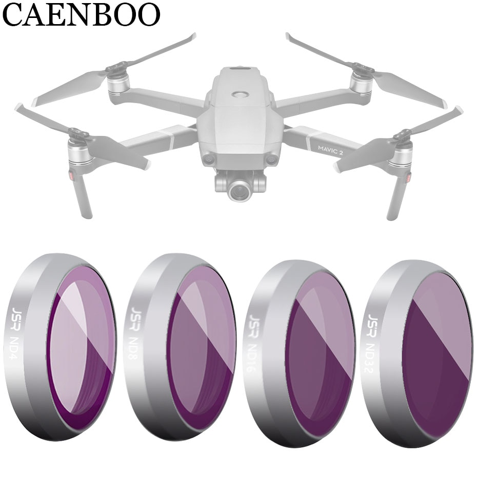 CAENBOO Drone Camera Filter For DJI Mavic 2 Zoom Neutral Density ND4 8 16 ND32 Optical Glass Multi-Layer Coating Film Protector