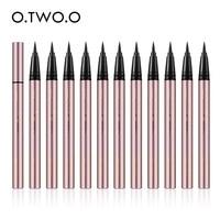 O.TWO.O 12pcs/set Waterproof Eyeliner Liquid 24 Hour Long Lasting Black Eye Liner Pen Pencil Makeup Cosmetics Tools