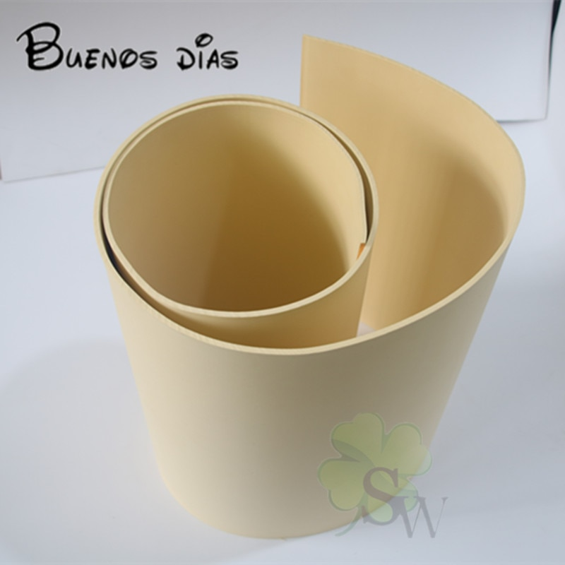 Hojas de espuma Eva de color beige de 25 grados, eva artesanal fácil de cortar, hoja perforada, material hecho a mano para cosplay