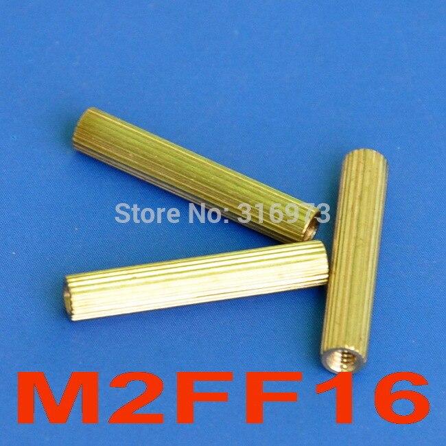 (1000 قطعة/الوحدة) 16 مللي متر الخيوط M2 النحاس المواجهة الإناث الإناث ، فاصل.