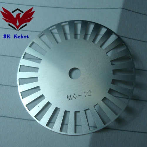 Photoelectric Encoder, Meter Wheel, Photoelectric Speed Sensor, Robot Speed Measuring Disc M4-10 Velocity Measure DIY Smart Car