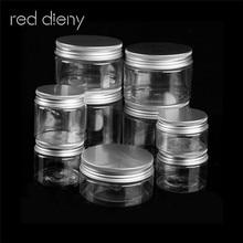 Tragbare 30 ml-250 ml Leere Aluminium Kappe Kosmetische Zinn Topf Lip Balm Jar Container Öl Wachs Leere Kosmetische gesicht Creme Container Box