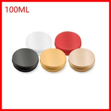 100ml słoik aluminiowy 100 gram metalowy słoik na krem srebrny aluminiowa metalowa pojemnik na kosmetyki czerwony/czarny/żółty/srebrny 100 sztuk/partia
