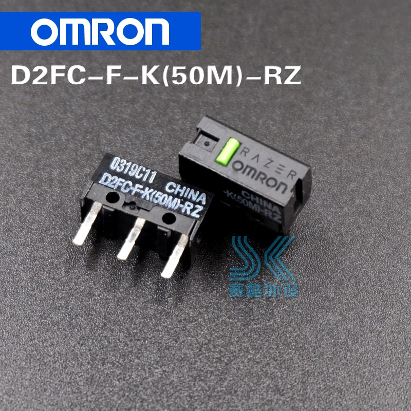2pcs/lot OMRON Mouse Micro Switch Microswitch D2FC-F-K 50m general D2FC-F-7N 10M 20M 50 millions time lifetime omron mouse micro switch d2f f 3 7 button suitable for 10m 20m 50m steelseries sensei 310 g304 g305 g602 g900 g903 free shipping
