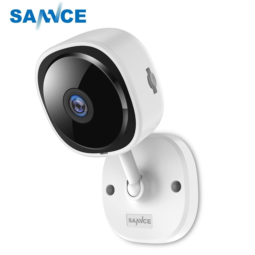 SANNCE cámara IP ojo de pez de 180 grados HD 1080P cámara inalámbrica de seguridad para el hogar Cámara IR visión nocturna Wifi Mini red Camara Baby Monitor