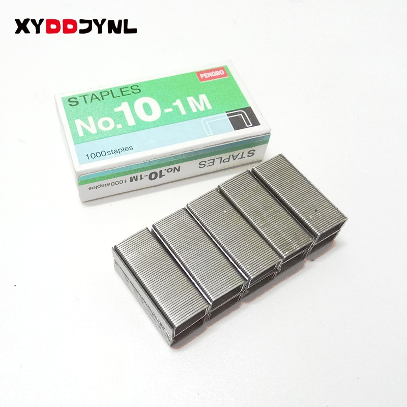 1box Silver Grapadora Grapas Staples Office Stationery Staple No.10 Binding Supplies Normal Staples Metal Tapetool