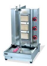 Shawarma-machine à barbecue à gaz 3 (trois)   machine à rôtir avec chaîne de viande turque, rôtissoire à gaz rotatif vertical, kebab