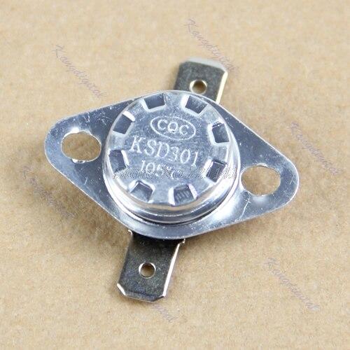 Termostato KSD301, 105 grados, centígrado, Normal, cerrado, NC, temperatura de Interruptor controlado, 250V, 10a