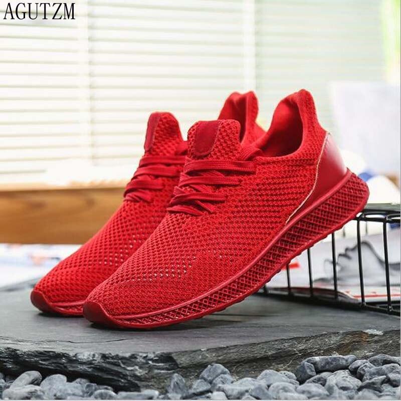 AGUTZM 2020, zapatos informales para hombre con párrafo de cuatro estaciones, cómodos, transpirables, baratos, antideslizantes, zapatillas suaves de moda para adultos Q28
