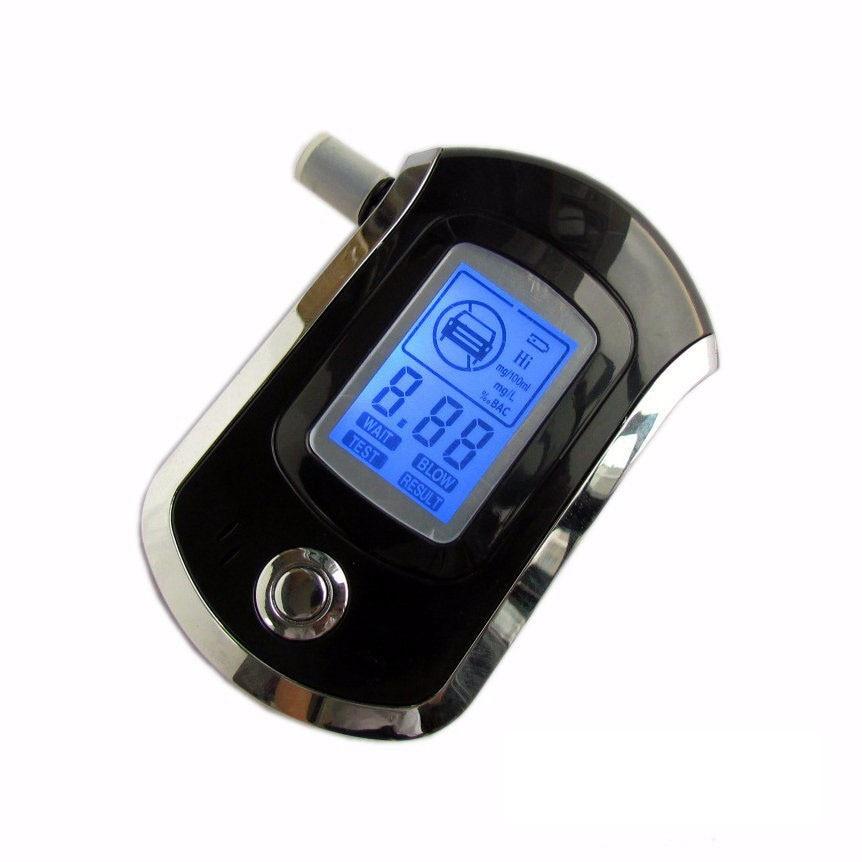 AT6000 Профессиональный полицейский цифровой алкотестер Alkohol Алкотестер ЖК-дисплей анализатор