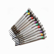 11 Pcs/Lot 0.8-1.8mm jeu de tournevis montre réparation outils à main tournevis plats et Phillips sac en cuir Herramientas
