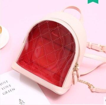 Princess sweet lolita bag Summer and spring fashionable and casual Korean version transparent backpack tide women DLM021