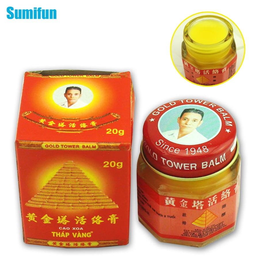 Sumifun 100% Original Vietnam oro Torre ungüento alivio del dolor parche masaje corporal cuello masajeador artritis Tigre bálsamo C087