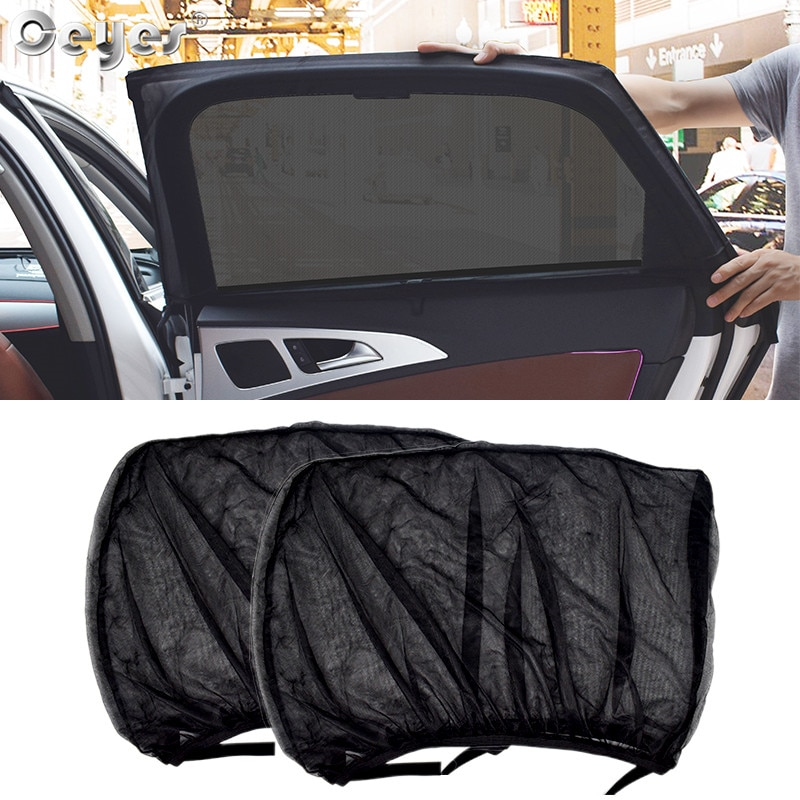 Ceyes 2pcs Car Styling Accessories Sun Shade Auto UV Protect Curtain Side Window Sunshade Mesh Sun V