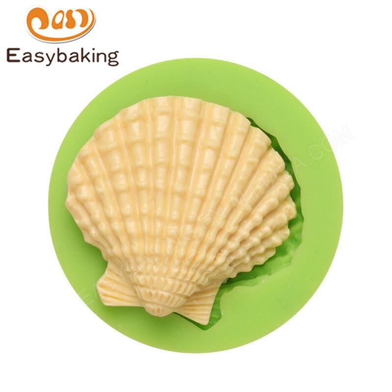 Linda concha de mar de silicona molde Fondant molde Mini jabón molde para pasta de artes y artesanías de alimentos